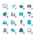 stylized graphic and website design icons vector image vector image