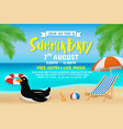 summer party invitation flyer background template vector image vector image