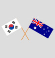 the australian and korean flags vector image vector image