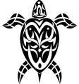 tribal turtle vector image vector image