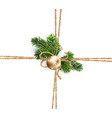 twine of rope for christmas decorations vector image vector image