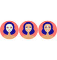 types facial beauty masks and patches vector image