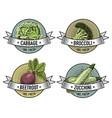 vintage set of labels emblems or logo for vector image vector image
