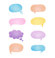 watercolor bubble speech set vector image vector image