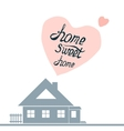 with hand-drawn letteringHome sweet vector image vector image