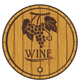 wooden barrel for wine vector image