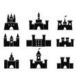 black castle icons vector image
