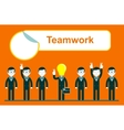 flat design for team work concept vector image