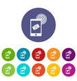 mobile mail sign icons set flat vector image