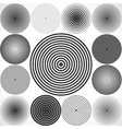 Set of concentric circle elements vector image
