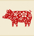 2019 zodiac year of the earthen pig the chinese vector image vector image