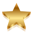 3d gold star vector image vector image
