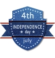 4th July Independence day banner vector image