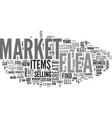a lesson at the flea market text word cloud vector image vector image