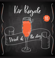 alcoholc cocktail kir royale party summer poster vector image vector image