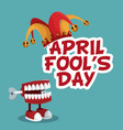 april fools day funny poster vector image