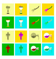 assembly flat icons cup potion witchs broom cross vector image vector image
