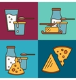 Assortment of dairy products square composition
