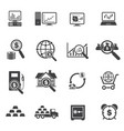 big data and finance icons set vector image