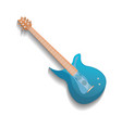 blue electronic guitar isolated icon vector image