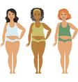 bodypositive plus sizea girls vector image