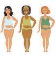 bodypositive plus sizea girls vector image vector image