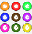 bookmark icon sign A set of nine different colored vector image