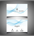 business card with flowing lines design vector image vector image