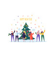 business people celebrating new year party flat vector image