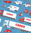 cargo truck van or minivan car for delivery vector image vector image