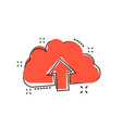 cartoon cloud icon in comic style cloud sign vector image vector image