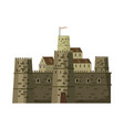 castle fortress ancient architecture middle vector image vector image