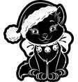 Christmas cat sticker
