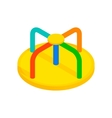 Colorful merry-go-round isometric 3d icon vector image vector image