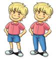 Confident Boy vector image vector image