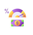 credit score changing flat color icon vector image