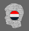 democracy tags cloud concept vector image vector image