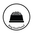 Dog food bowl icon vector image vector image