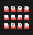 emoji set messages in red letters vector image vector image