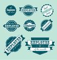 employee month label set vector image vector image