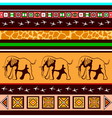 Ethnic pattern with elephants vector image vector image