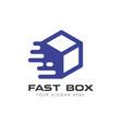 fast delivery box logo design courier logo design vector image vector image
