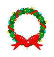 flat design christmas fully decorated garland vector image