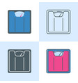 floor scales icon set in flat and line style vector image vector image