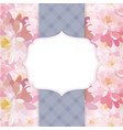 floral pattern background with frame vector image