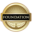 Foundation Gold Emblem vector image vector image