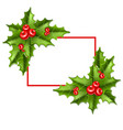 frame2 christmas mistletoe 10eps vector image vector image
