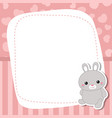 greeting card with cute rabbit greeting card vector image vector image