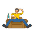 guy masturbates on chair onanism on armchair vector image vector image