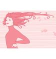 hair girl vector image